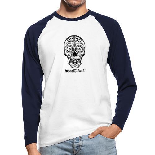 Skull & Logo black - Männer Baseballshirt langarm