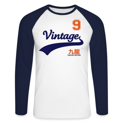 vintage06 - T-shirt baseball manches longues Homme