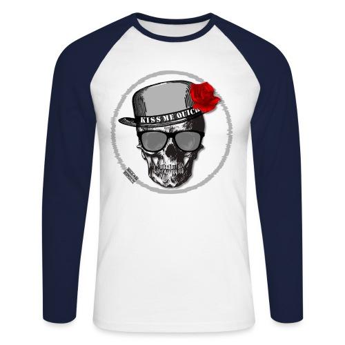 Kiss Me Quick - Men's Long Sleeve Baseball T-Shirt