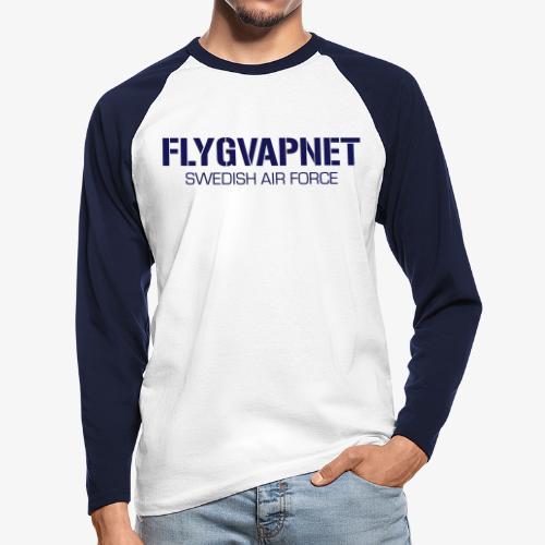 FLYGVAPNET - SWEDISH AIR FORCE - Långärmad basebolltröja herr