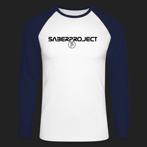 Saberproject Schriftzug - Männer Baseballshirt langarm