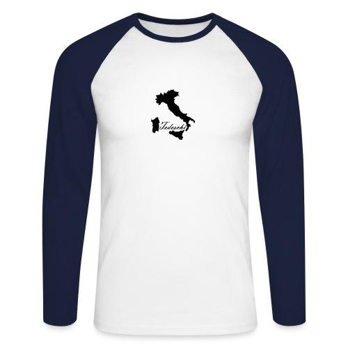 Tedeschi noir - T-shirt baseball manches longues Homme
