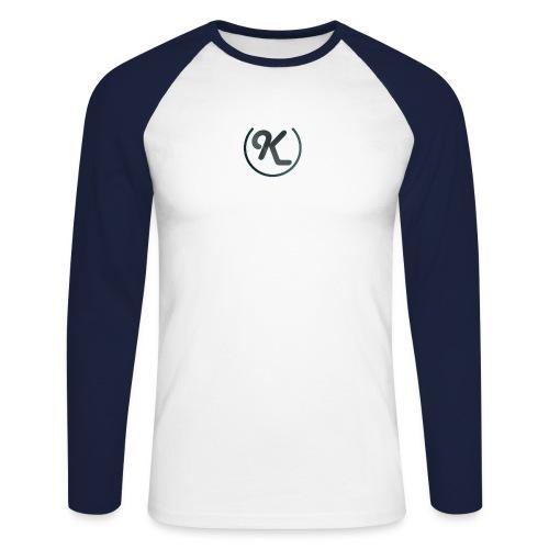 K-Logo - Männer Baseballshirt langarm