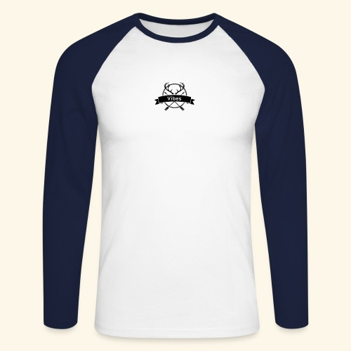 vibes - Männer Baseballshirt langarm