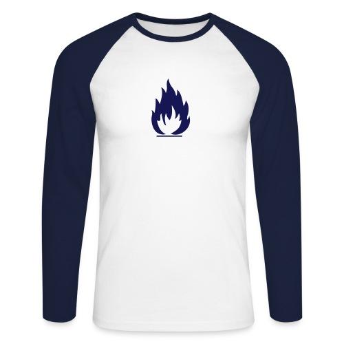 Flamme - Männer Baseballshirt langarm