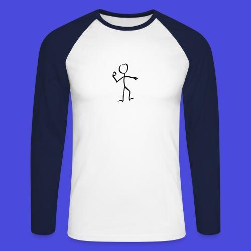stickman-151358_640 - Männer Baseballshirt langarm