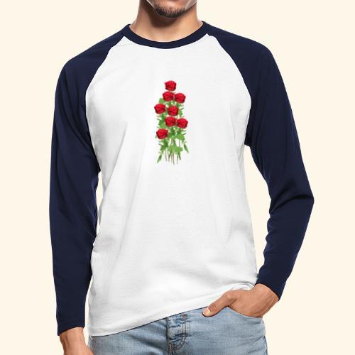 rote rosen - Männer Baseballshirt langarm