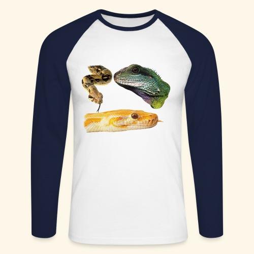 Snakes Reptiles & Iguana Lizard - Men's Long Sleeve Baseball T-Shirt