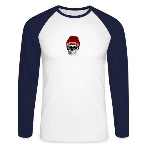 Tête de mort tendance - T-shirt baseball manches longues Homme