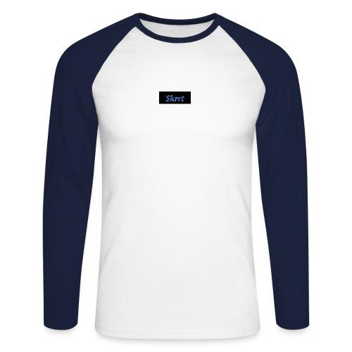 Skrrt Camuflage Blue - Männer Baseballshirt langarm