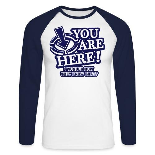 bbb_youarehere_shirt - Men's Long Sleeve Baseball T-Shirt