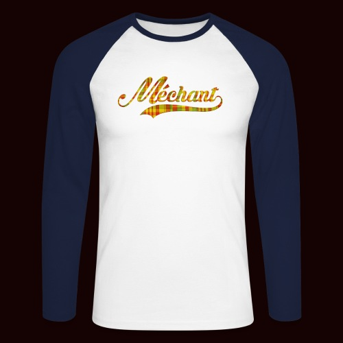 méchant madras - T-shirt baseball manches longues Homme