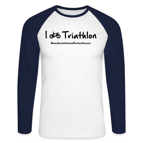 I love Triathlon - Männer Baseballshirt langarm