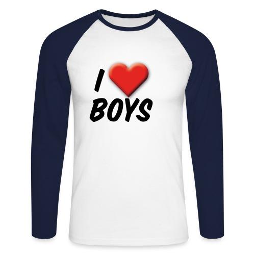 iloveboys 2 - Männer Baseballshirt langarm