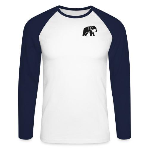 Schönes Elefanten Design für Elefanten Fans - Männer Baseballshirt langarm