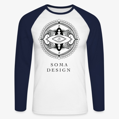 Om Mandala - Men's Long Sleeve Baseball T-Shirt