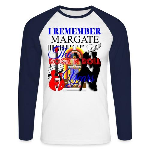 REMEMBER MARGATE - THE ROCK ROLL YEARS 1950's - Men's Long Sleeve Baseball T-Shirt