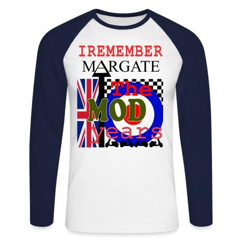 REMEMBER MARGATE - THE MOD YEARS 1960's - Men's Long Sleeve Baseball T-Shirt
