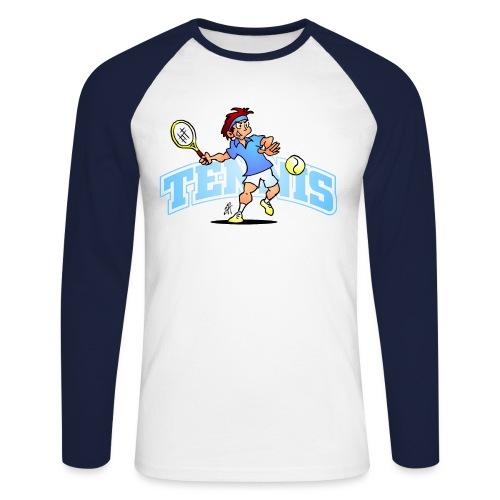 Tennis IV txt fc - Men's Long Sleeve Baseball T-Shirt