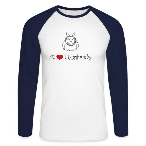 I Love Lionheads - Men's Long Sleeve Baseball T-Shirt