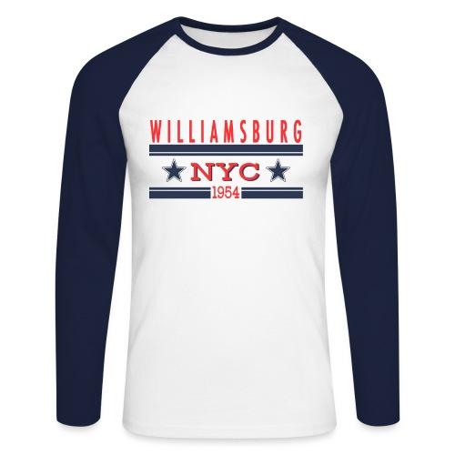 Williamsburg Hipster - Männer Baseballshirt langarm