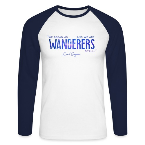 Wanderers - Men's Long Sleeve Baseball T-Shirt