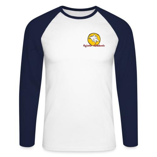 logokreishinten - Männer Baseballshirt langarm