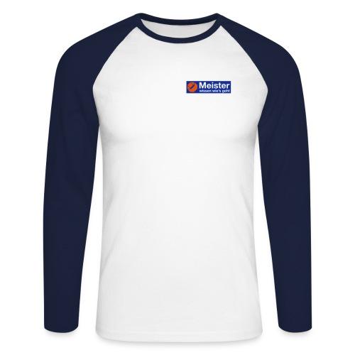 logo meister plott 110mm - Männer Baseballshirt langarm