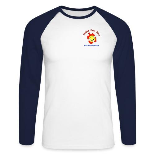 Party Piece Logo - Men's Long Sleeve Baseball T-Shirt