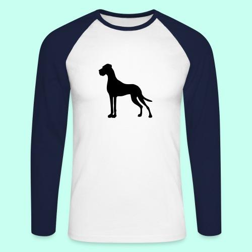 Sternenherz_Dogge - Männer Baseballshirt langarm