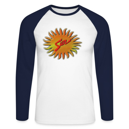 sunnewlogo - Men's Long Sleeve Baseball T-Shirt