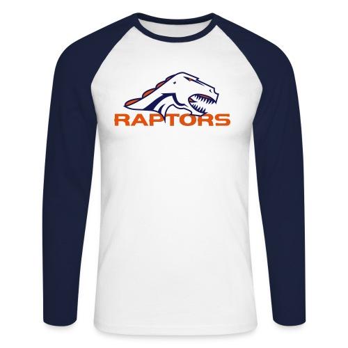 raptors cmyk - Mannen baseballshirt lange mouw