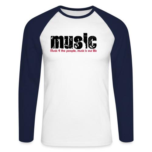 music4yourlive - Männer Baseballshirt langarm