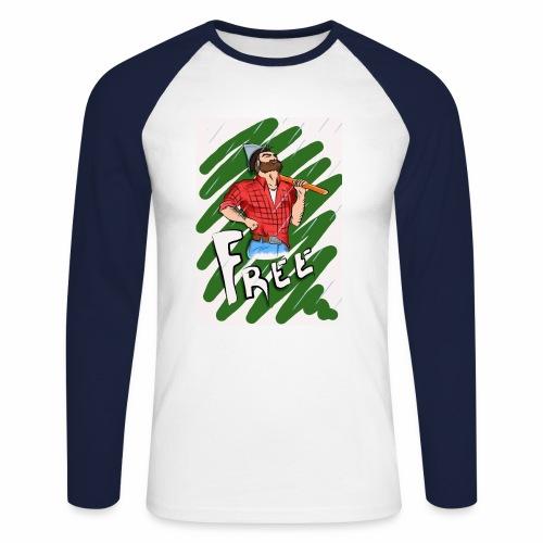 free - Männer Baseballshirt langarm