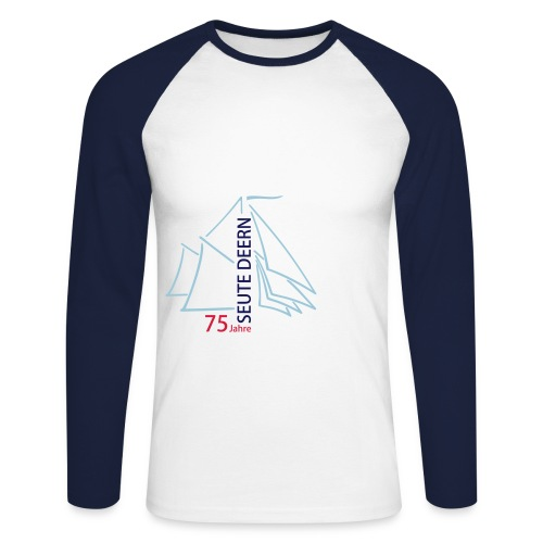 SeuteDeern75Jahre-Front - Männer Baseballshirt langarm