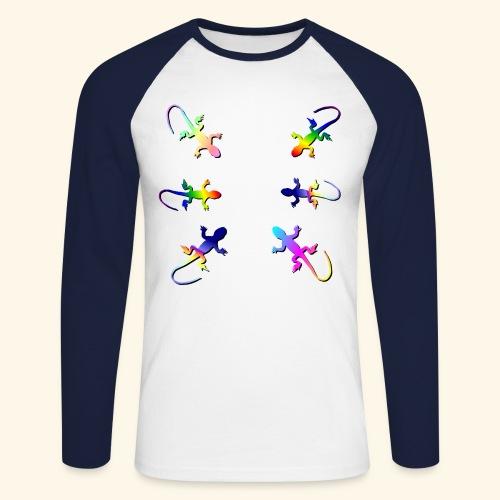 Rainforest Lizard Gecko - Men's Long Sleeve Baseball T-Shirt