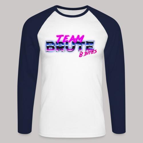 Team BRUTE Neon Pink - Men's Long Sleeve Baseball T-Shirt