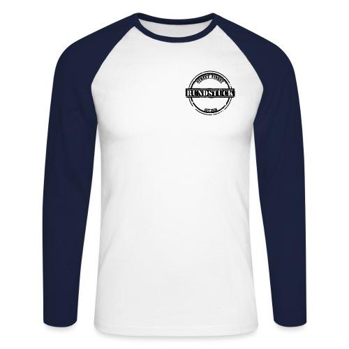 Rundstück schwarz png - Männer Baseballshirt langarm