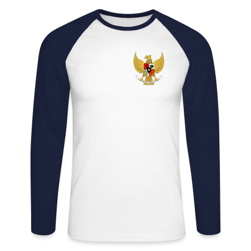 garuda pancasila 1 - Men's Long Sleeve Baseball T-Shirt