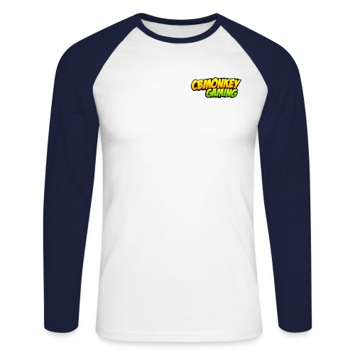 CBMonkey Text png - Men's Long Sleeve Baseball T-Shirt