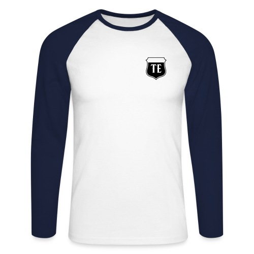 White Logo - Men's Long Sleeve Baseball T-Shirt