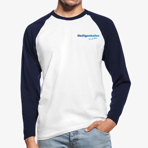 Heiligenhafen weiss Shirt - Männer Baseballshirt langarm