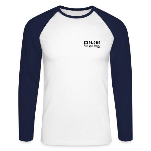 tee shirt manche longue explorer - T-shirt baseball manches longues Homme