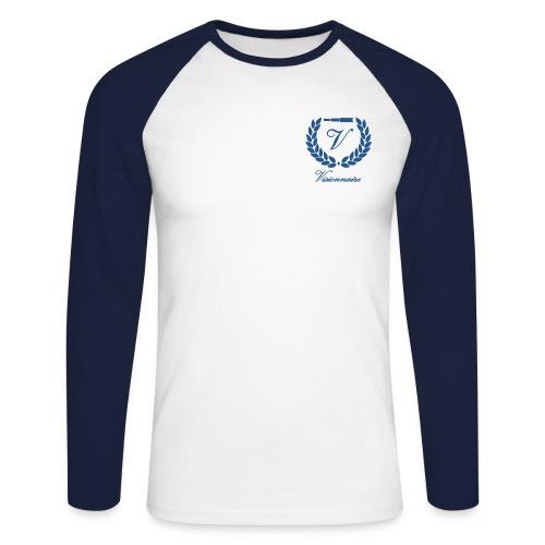 visio sans fond avec text - T-shirt baseball manches longues Homme