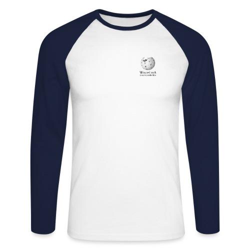 Nouveau Wikipédia texte fr - T-shirt baseball manches longues Homme