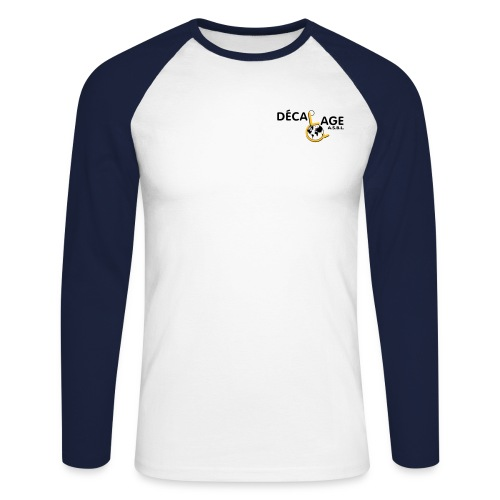 Logo vectoriel large - T-shirt baseball manches longues Homme