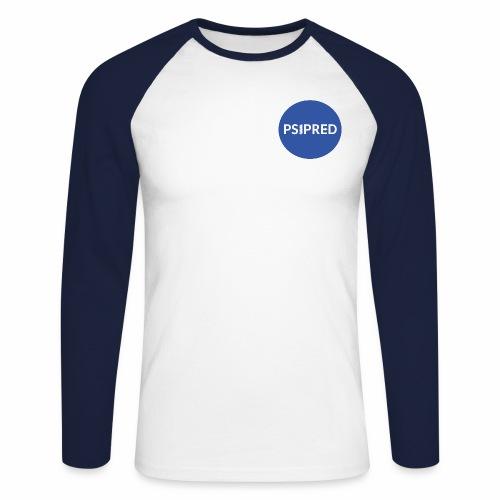 PSIPRED logo blue field - Men's Long Sleeve Baseball T-Shirt