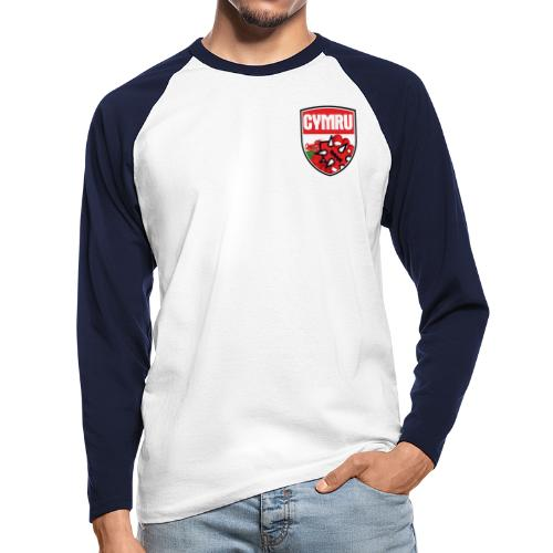 wales bloodbowl team logo complete - Men's Long Sleeve Baseball T-Shirt