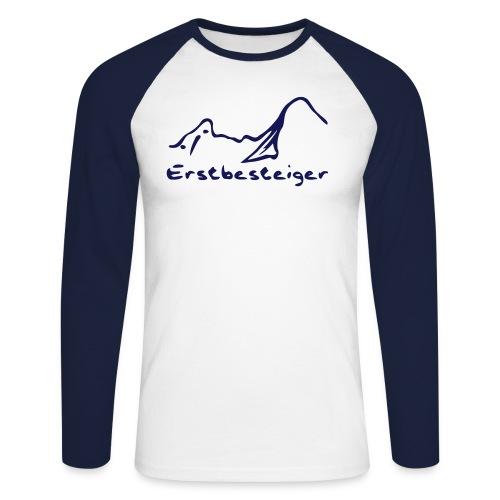 watze_erstbesteiger_klein - Männer Baseballshirt langarm