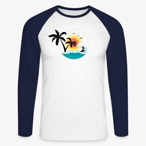 Surfing in paradise - Männer Baseballshirt langarm